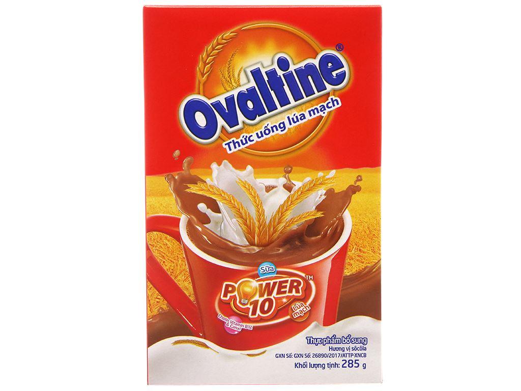 Bột thức uống lúa mạch vị chocolate Ovaltine hộp 285g 1