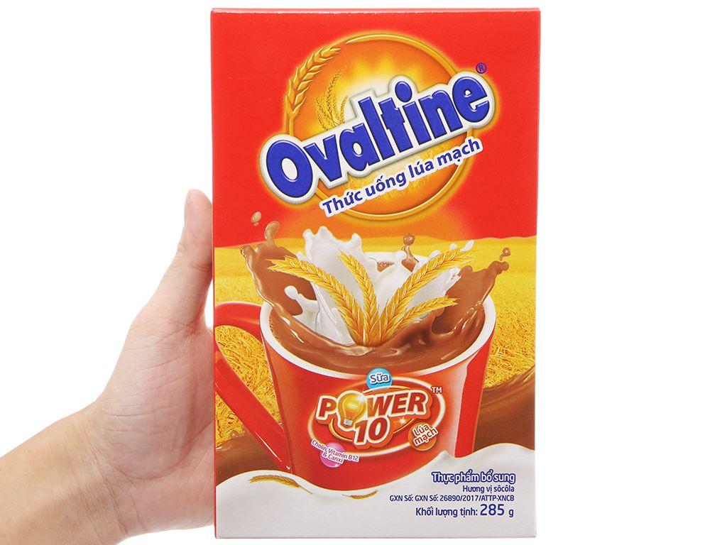 Bột thức uống lúa mạch vị chocolate Ovaltine hộp 285g 4