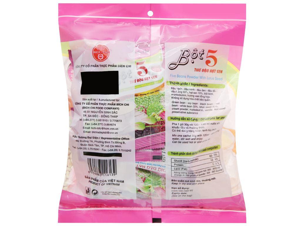 Bột 5 thứ đậu hạt sen không đường Bích Chi bịch 300g 10