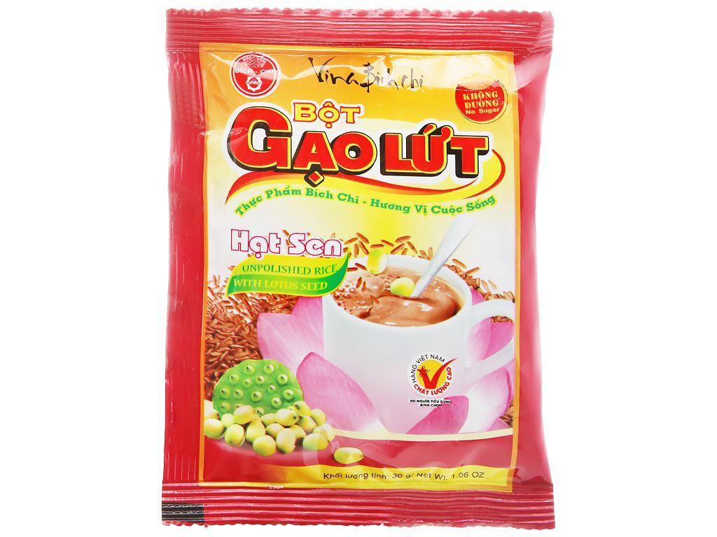 Bột gạo lứt hạt sen Bích Chi bịch 300g 14