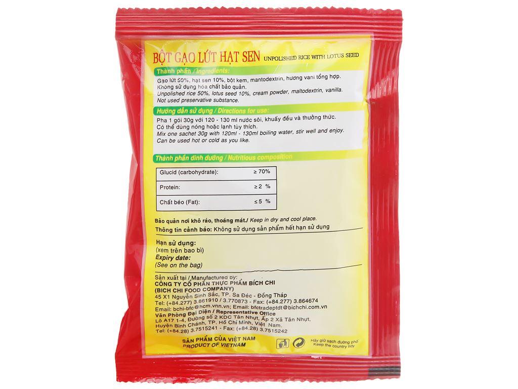 Bột gạo lứt hạt sen Bích Chi bịch 300g 15
