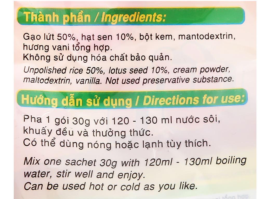 Bột gạo lứt hạt sen Bích Chi bịch 300g 16