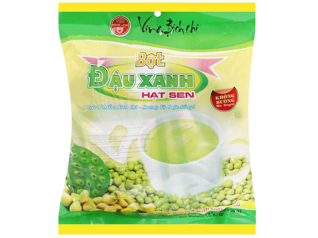 Bột đậu xanh hạt sen không đường Bích Chi bịch 300g 5