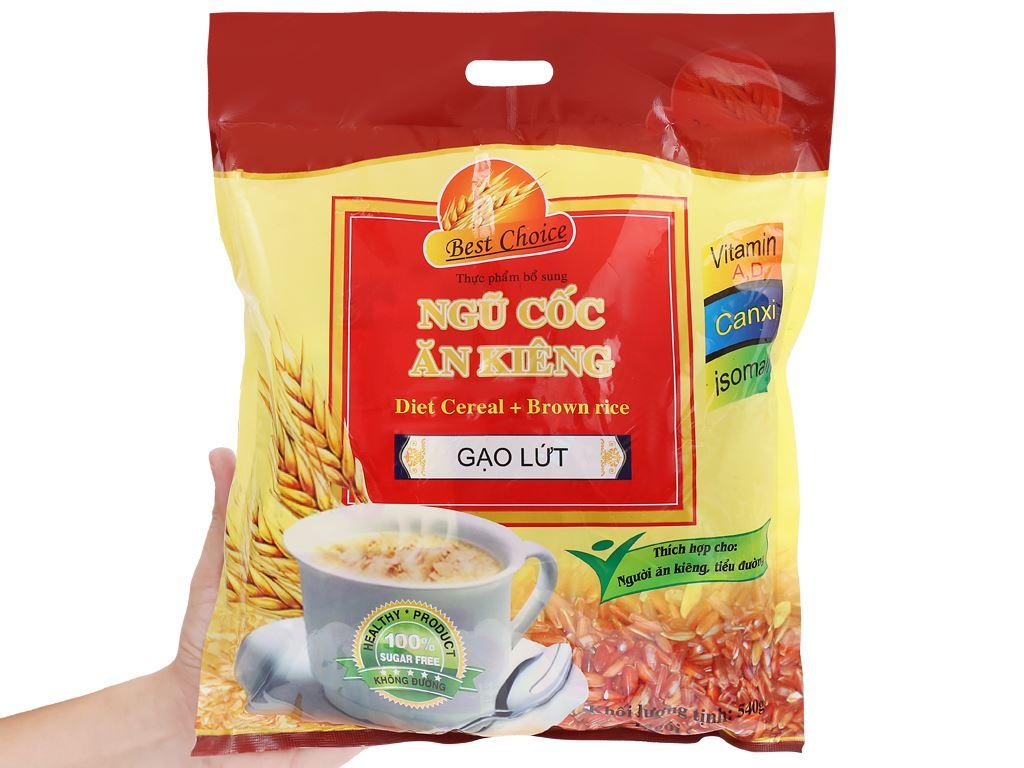 Ngũ cốc gạo lứt không đường Best Choice bịch 540g 10