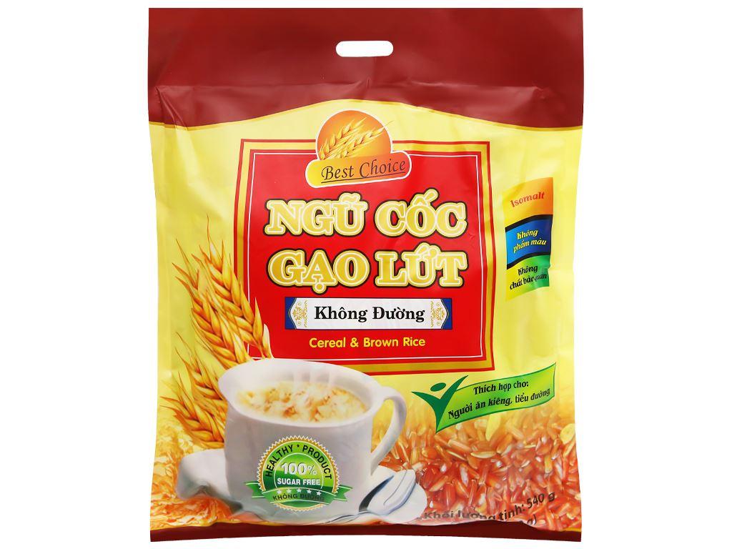 Ngũ cốc gạo lứt không đường Best Choice bịch 540g 6