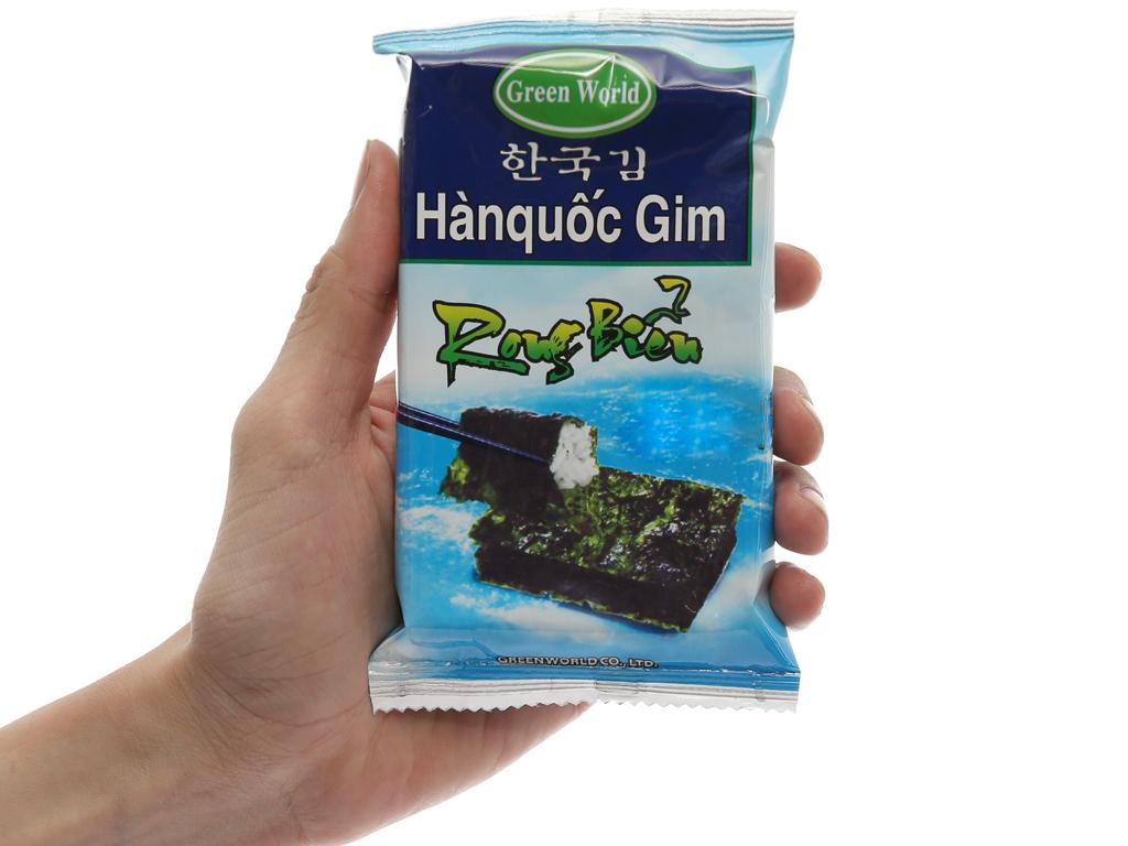Lốc 8 gói rong biển ăn liền vị truyền thống Green World 2g 6
