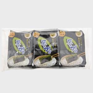 Lốc 3 gói rong biển ăn liền Green World Seasoned Laver 6.5g