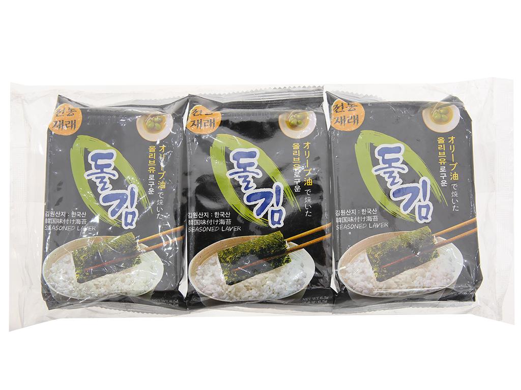 Lốc 3 gói rong biển ăn liền Green World 4.5g 1