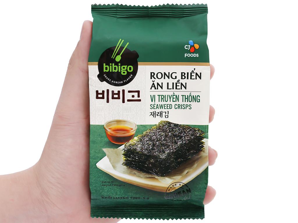 Lốc 3 gói rong biển ăn liền vị truyền thống Bibigo 5g 6