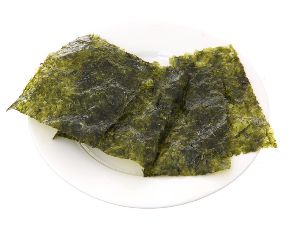 Lốc 3 gói rong biển ăn liền vị wasabi Bibigo 5g 4