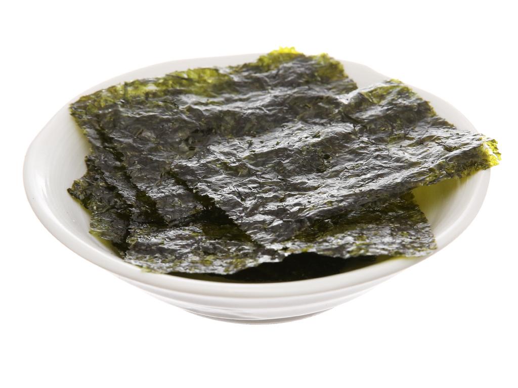 Lốc 3 gói rong biển ăn liền Humanwell vị oliu trà xanh 4g 5