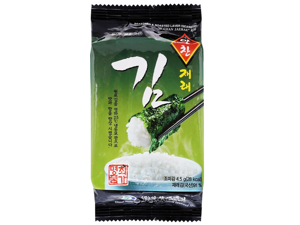 Lốc 3 gói rong biển ăn liền vị truyền thống Alchan Jaerae Kim 4.5g 2