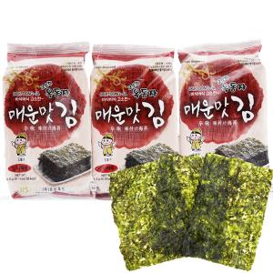 Lốc 3 gói rong biển ăn liền vị cay nồng Ock Dong Ja 4.5g