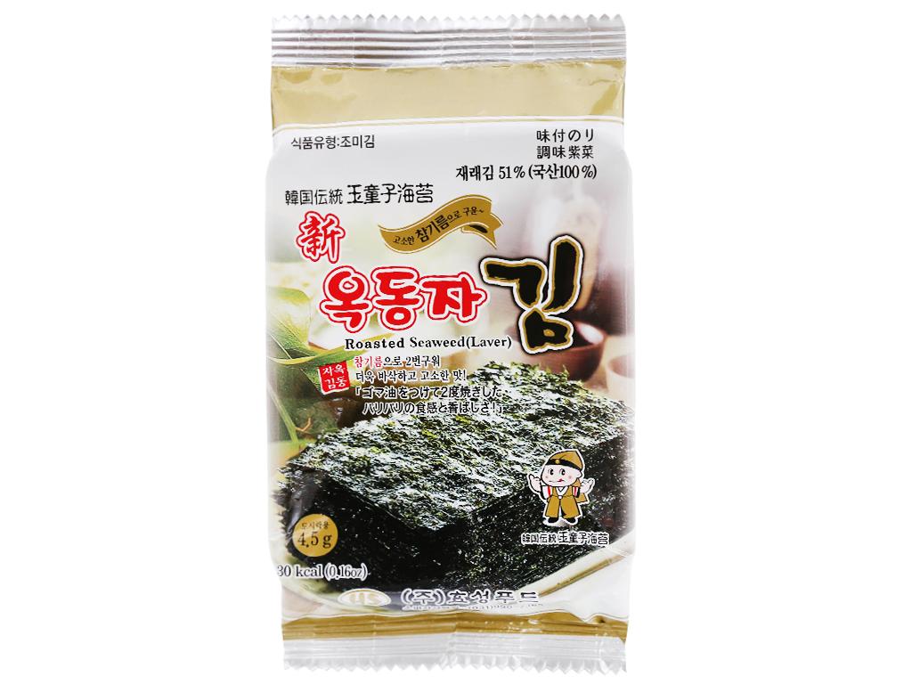 Lốc 3 gói rong biển ăn liền vị truyền thống Ock Dong Ja 4.5g 3