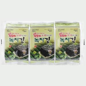 Lốc 3 gói rong biển ăn liền Ock Dong Ja vị trà xanh 4g