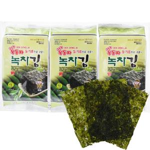 Lốc 3 gói rong biển ăn liền vị trà xanh Ock Dong Ja 4.5g
