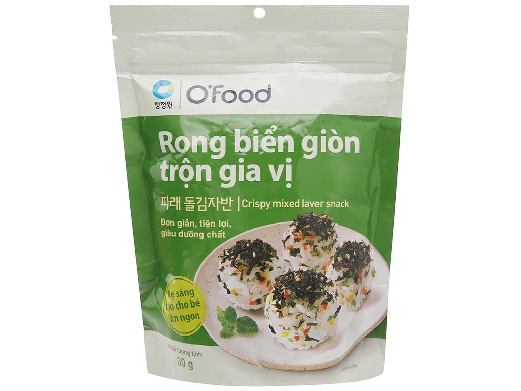 Rong biển giòn O'food trộn gia vị gói 30g 1