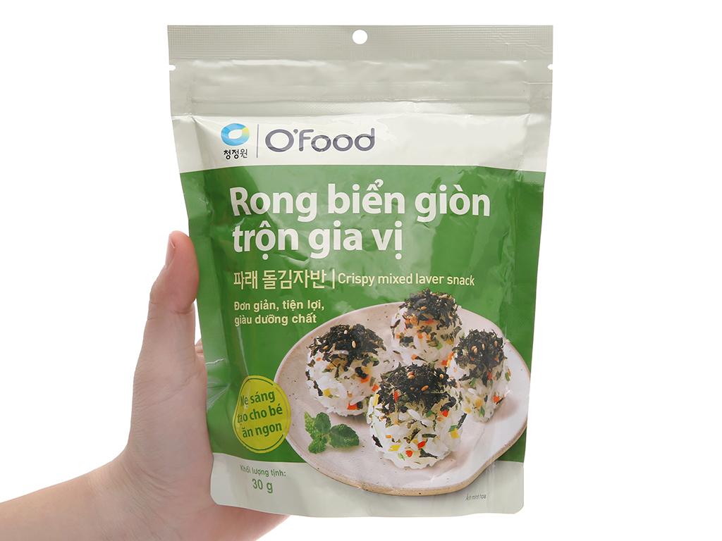 Rong biển giòn O'food trộn gia vị gói 30g 4