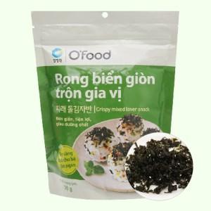 Rong biển giòn O'food trộn gia vị gói 30g