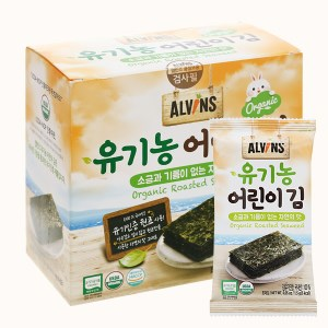 Rong biển hữu cơ tách muối cho bé Alvins hộp 15g