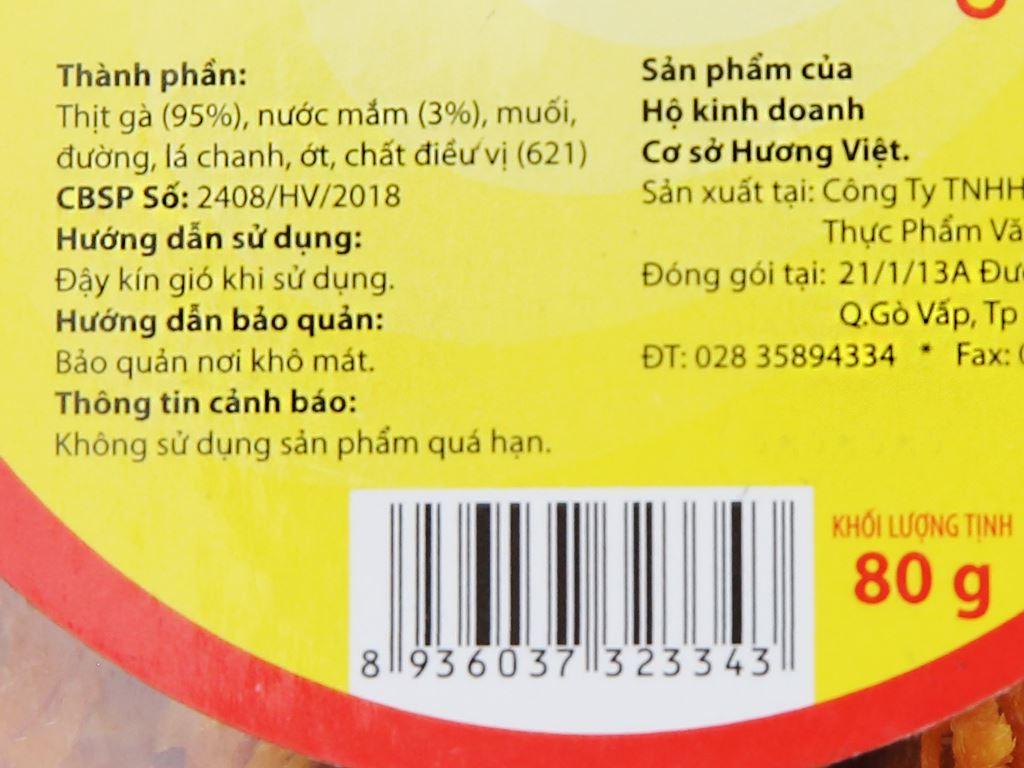 Thịt gà sấy Hương Việt hộp 80g 5
