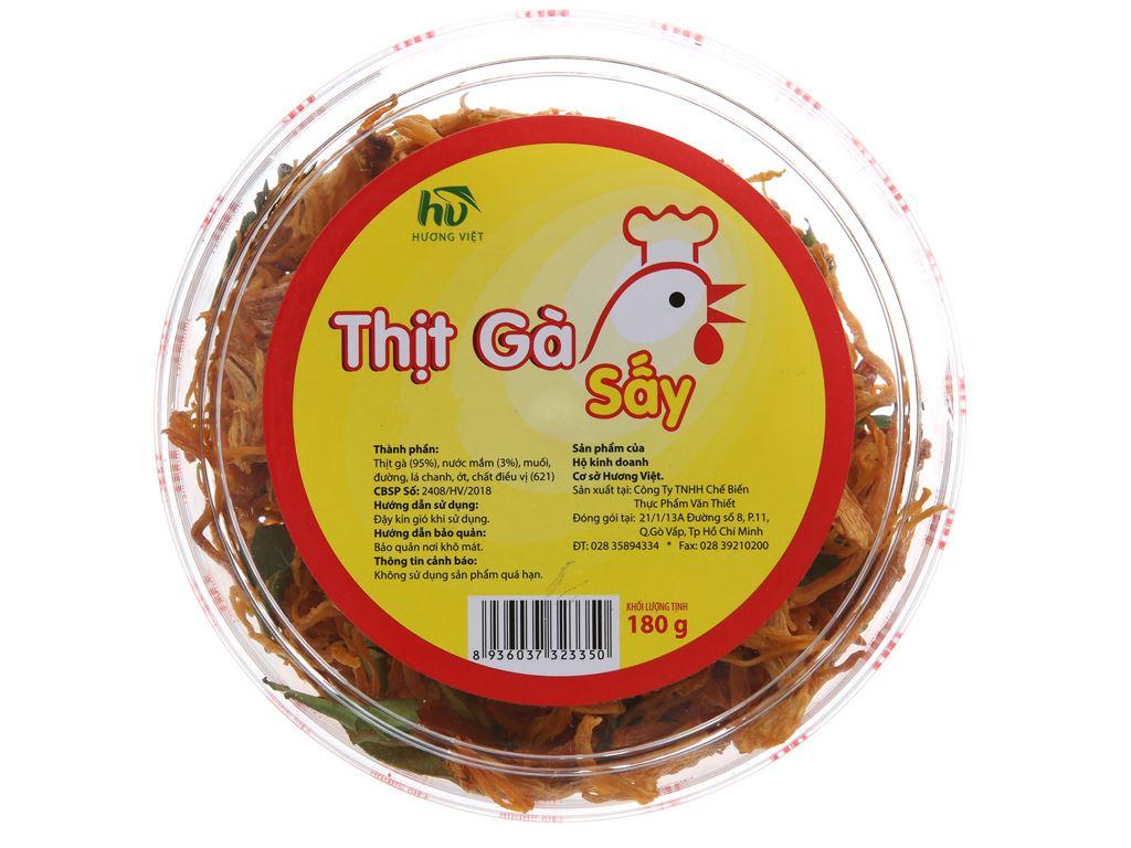 Thịt gà sấy lá chanh Hương Việt hộp 180g 1