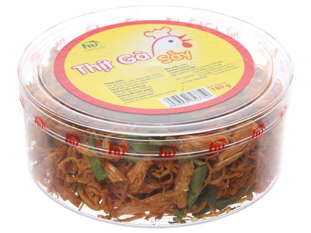 Thịt gà sấy lá chanh Hương Việt hộp 180g 2