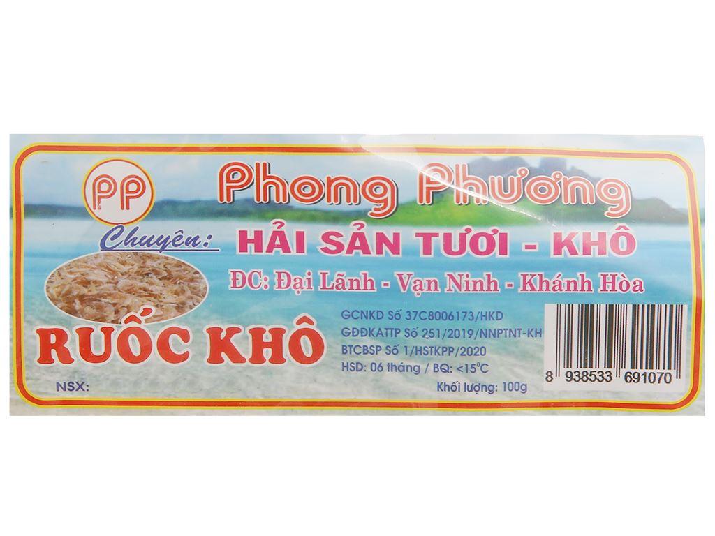 Ruốc khô Phong Phương gói 100g 3