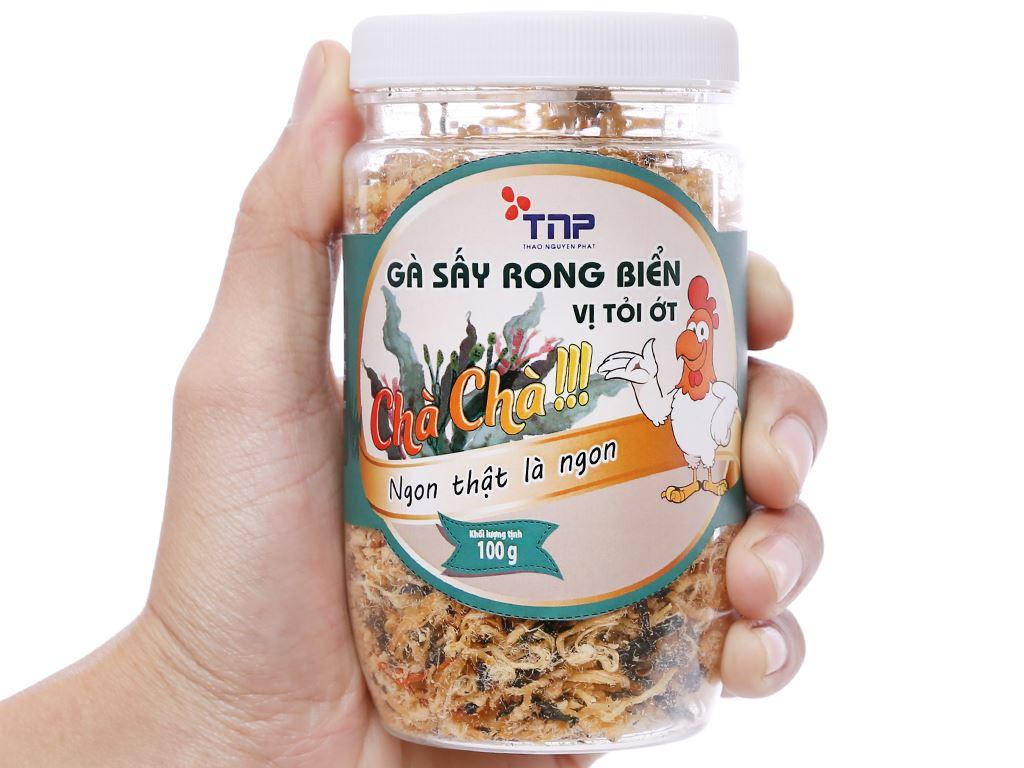 Gà sấy rong biển vị tỏi ớt Thảo Nguyên Phát hũ 100g 4