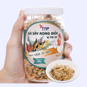 Gà sấy rong biển vị tỏi ớt Thảo Nguyên Phát hũ 100g