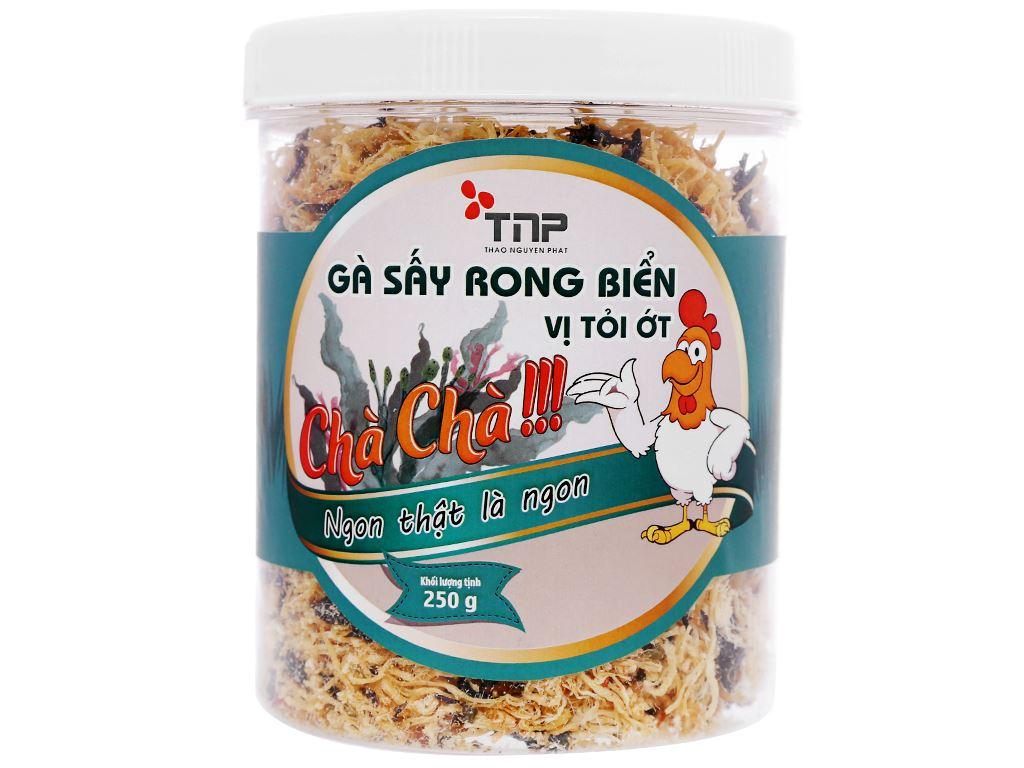 Gà sấy rong biển vị tỏi ớt Thảo Nguyên Phát hũ 250g 1