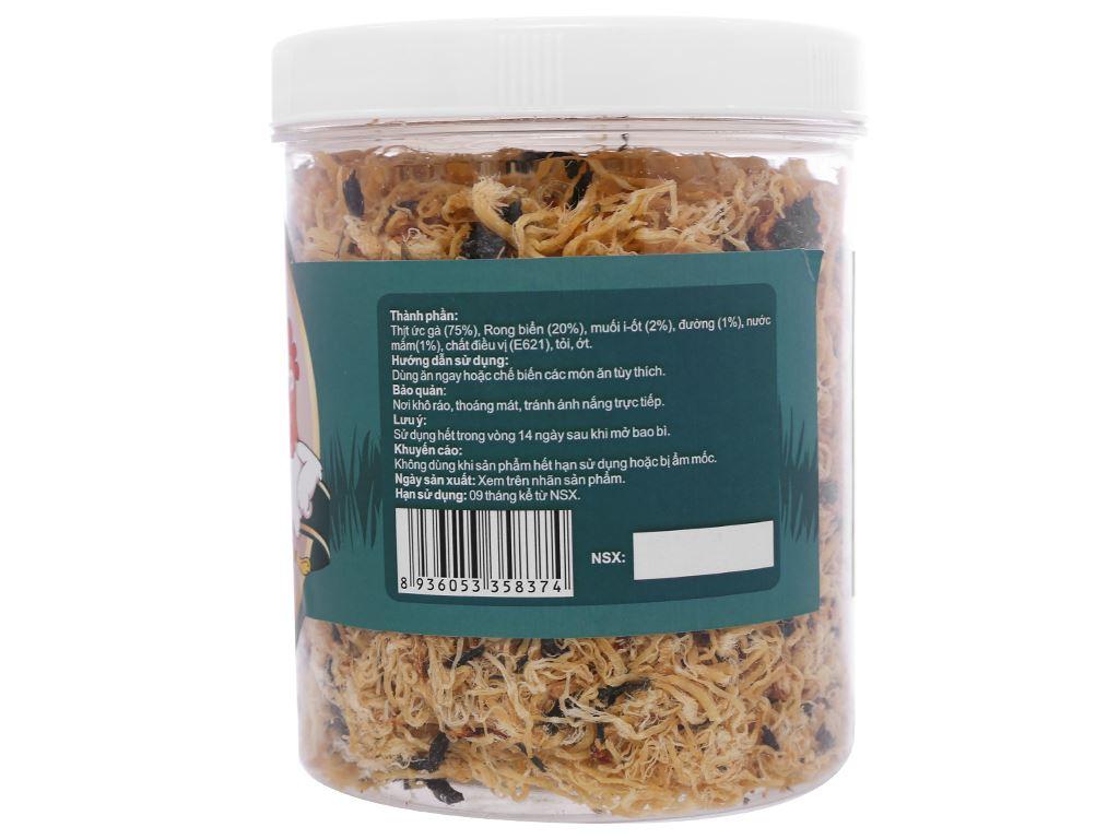 Gà sấy rong biển vị tỏi ớt Thảo Nguyên Phát hũ 250g 2