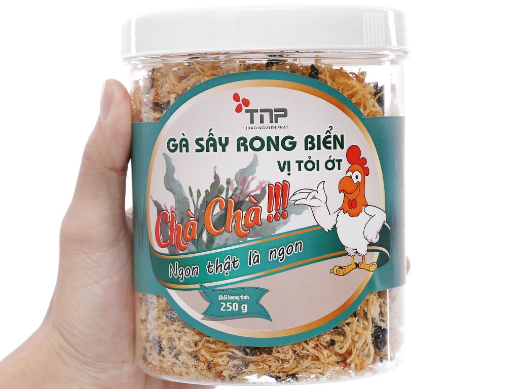 Gà sấy rong biển vị tỏi ớt Thảo Nguyên Phát hũ 250g 4