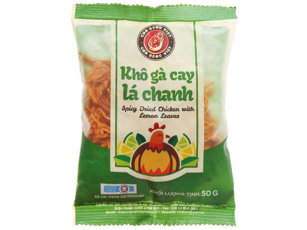 Khô gà lá chanh Chà bông Việt gói 50g 1