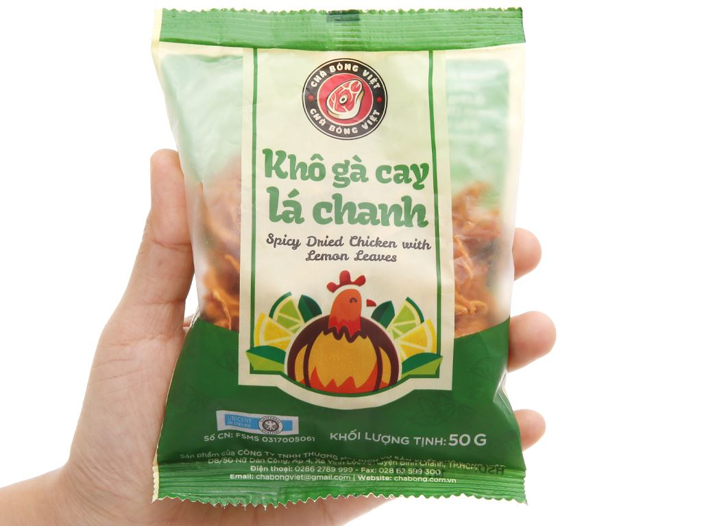 Khô gà lá chanh Chà bông Việt gói 50g 4