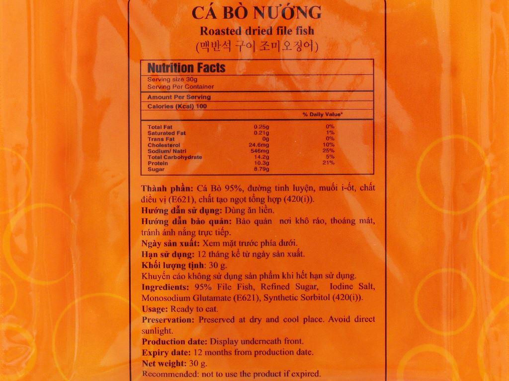 Cá bò nướng Seafood gói 35g 3