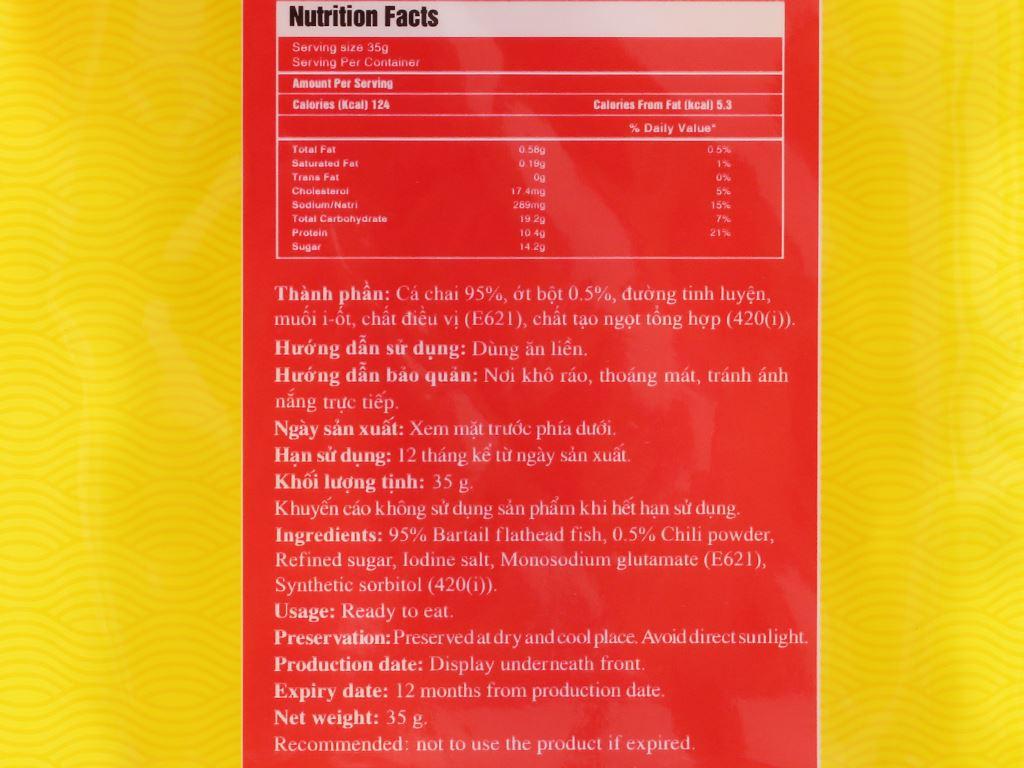 Cá chai nướng cay Seafood gói 35g 3
