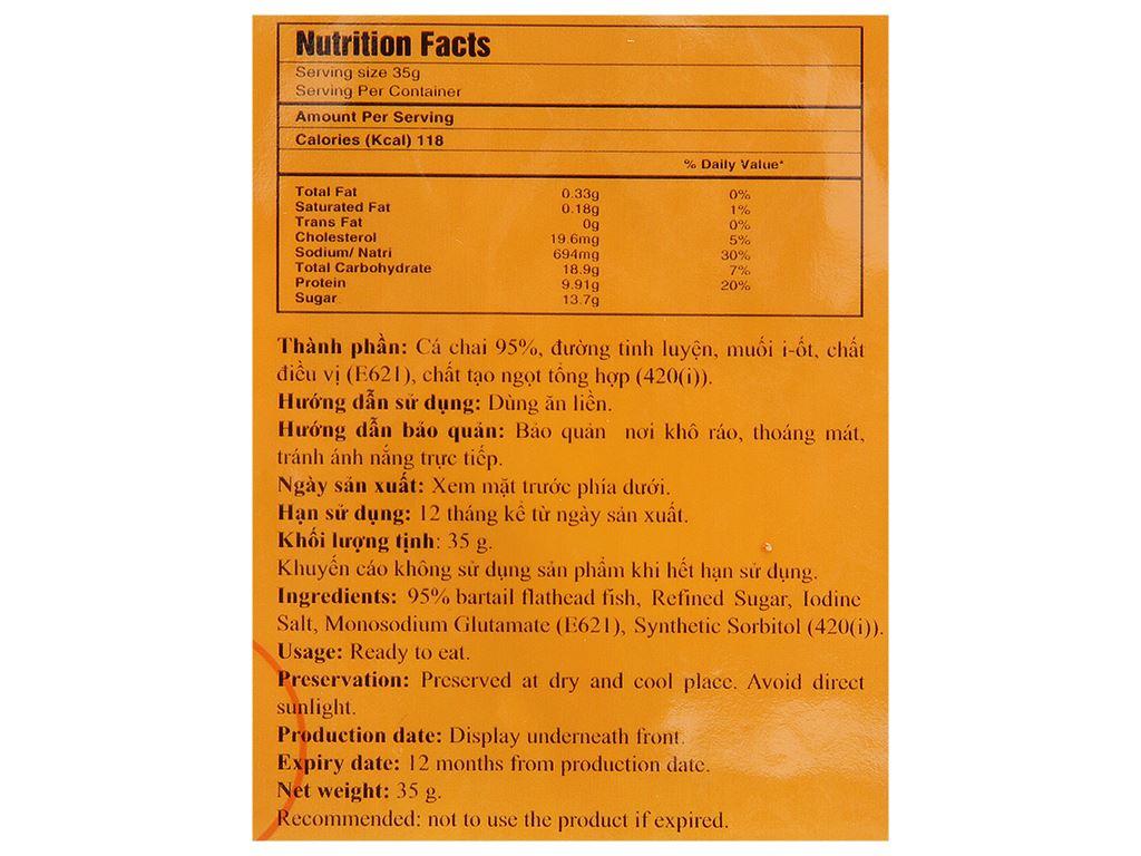 Cá chai nướng Seafood gói 35g 3