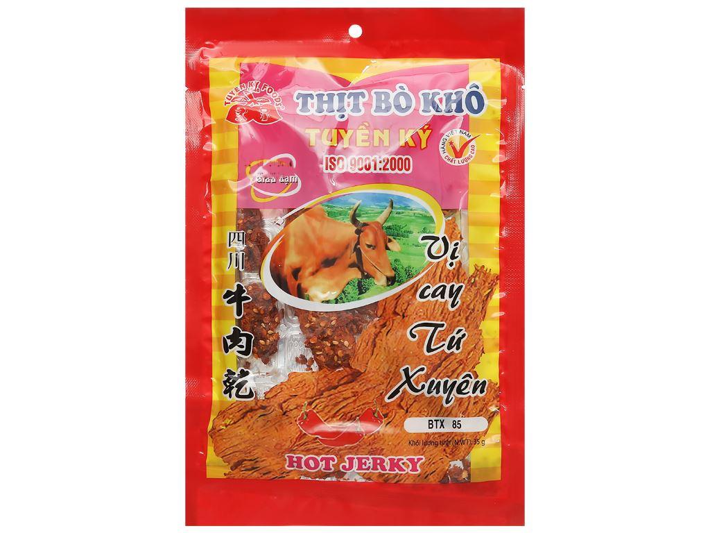 Thịt bò khô vị cay Tứ Xuyên Tuyền Ký gói 35g 1