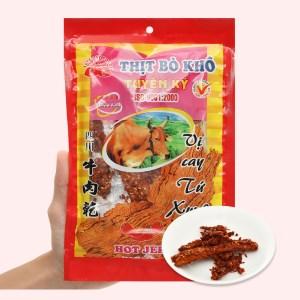 Thịt bò khô vị cay Tứ Xuyên Tuyền Ký gói 35g