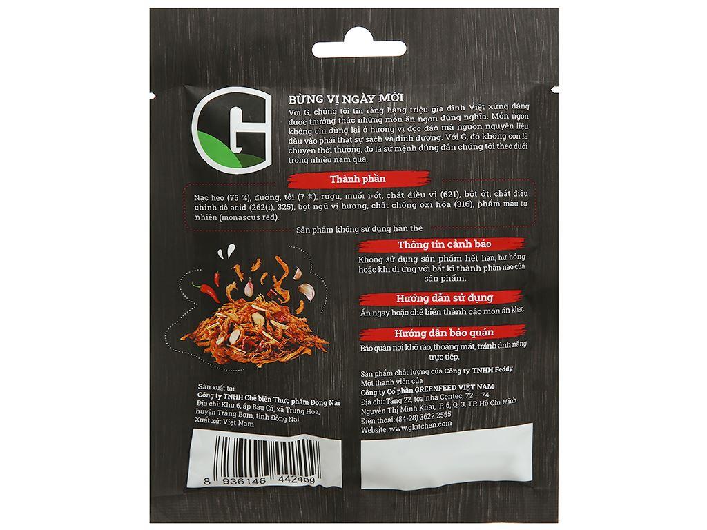 Khô heo vị cháy tỏi G Kitchen gói 25g 2