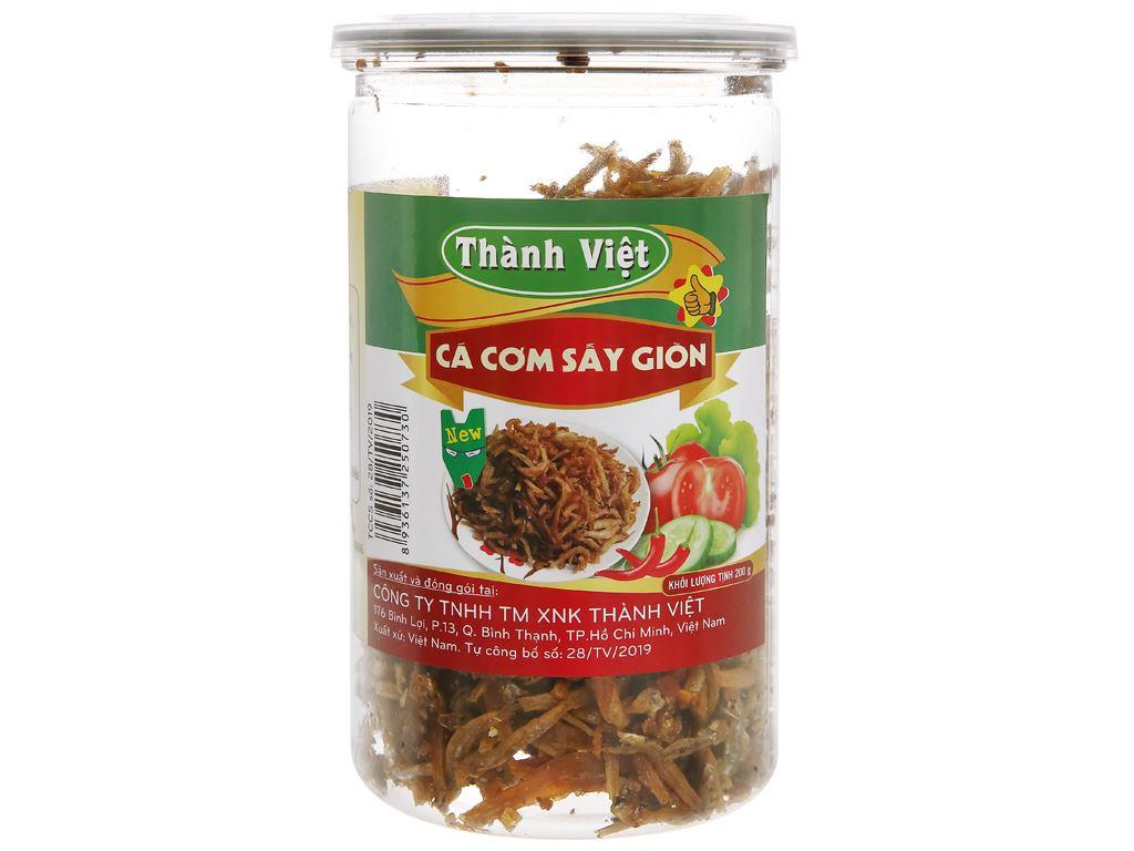 Cá cơm sấy giòn Thành Việt hũ 200g 1