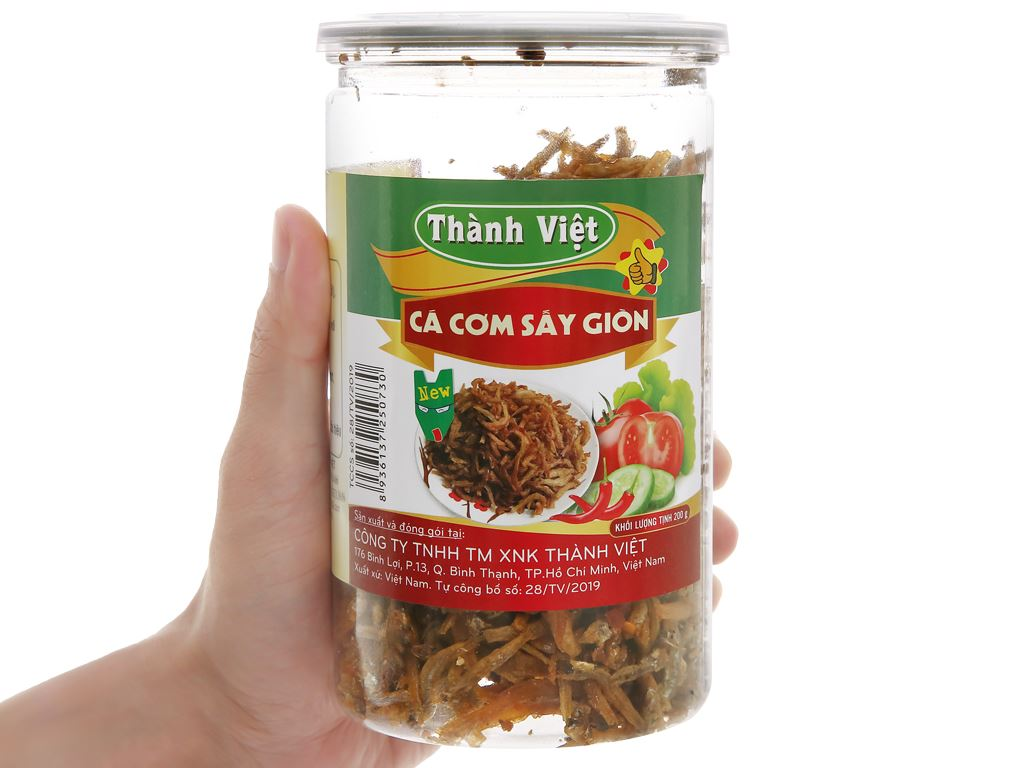 Cá cơm sấy giòn Thành Việt hũ 200g 4