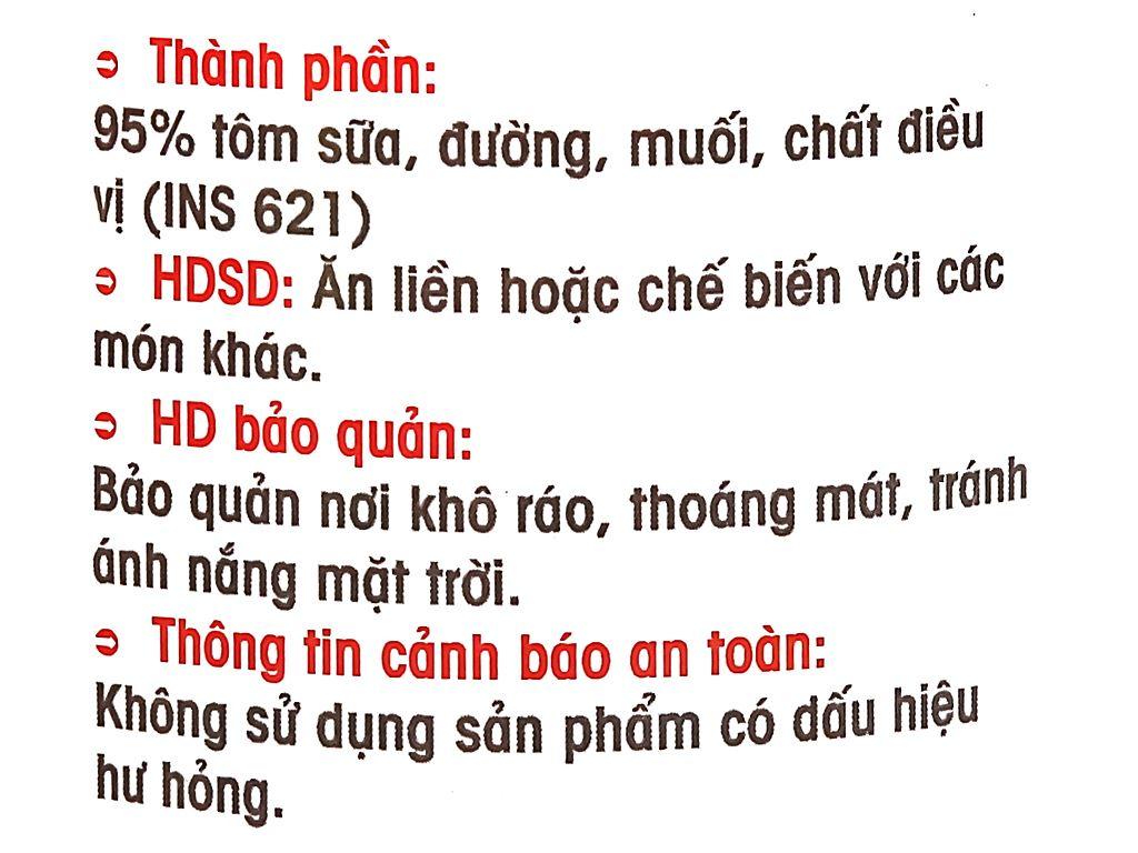 Tôm tẩm sốt Thành Việt hũ 240g 3