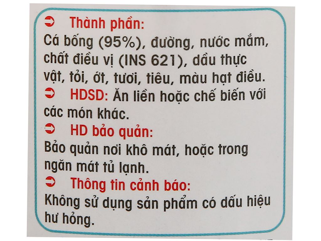 Cá bống rim Thành Việt hũ 200g 3