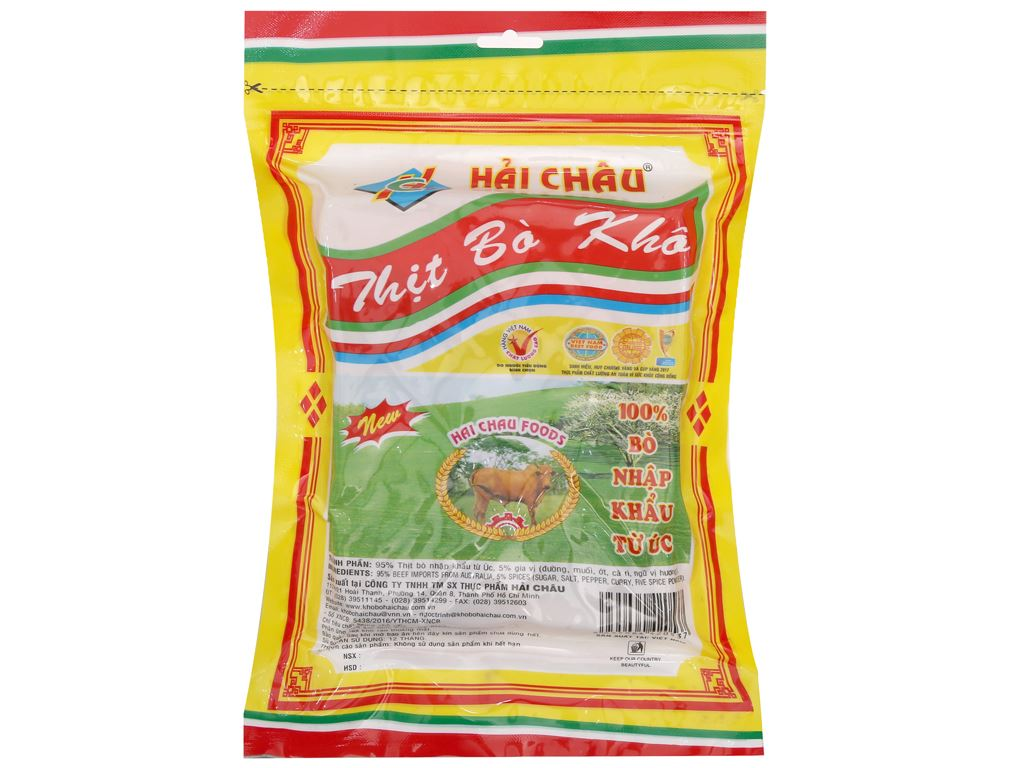 Thịt bò khô Hải Châu gói 100g 2