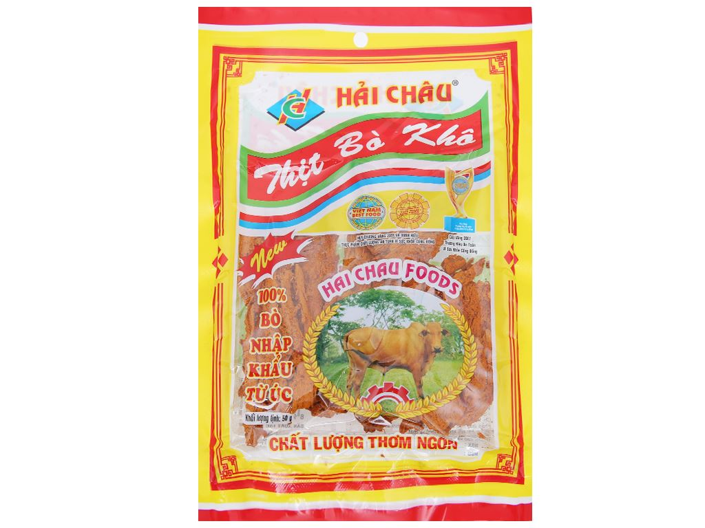 Thịt bò khô Hải Châu gói 50g 1