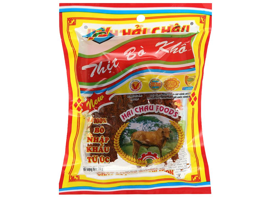 Thịt bò khô Hải Châu gói 24g 1