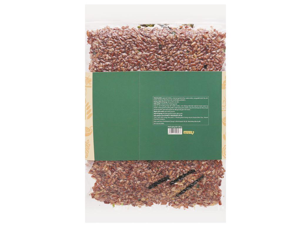 Gạo lứt sấy chà bông rong biển USFOOD gói 200g 12
