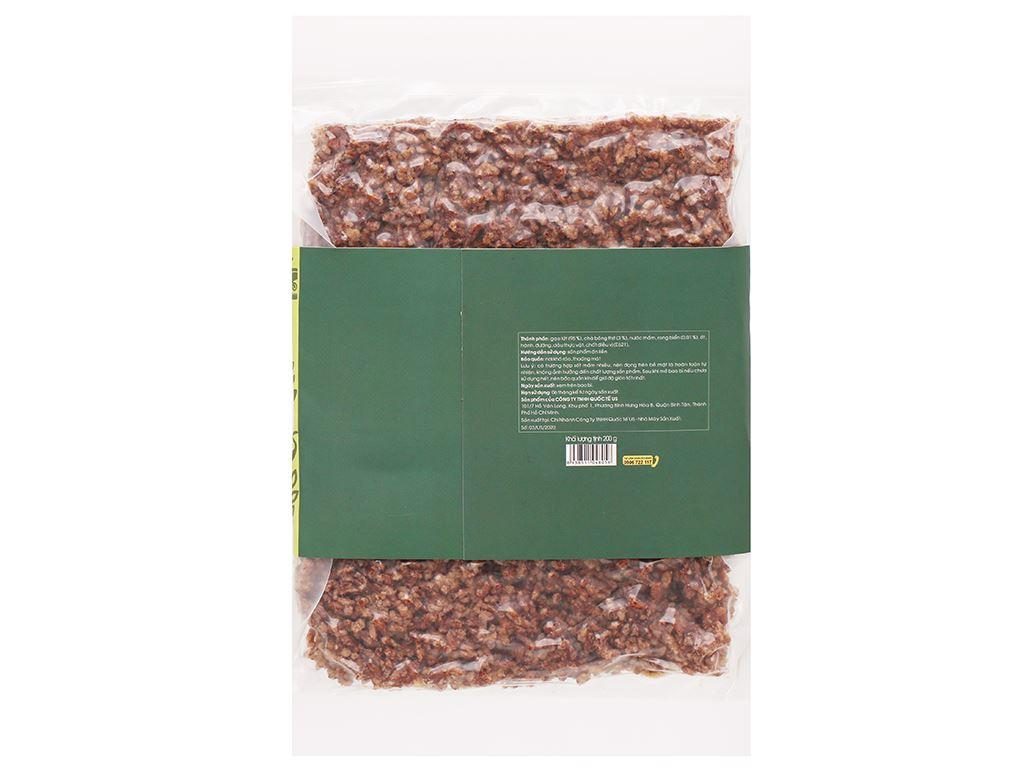 Gạo lứt sấy chà bông rong biển dạng miếng USFOOD gói 200g 6